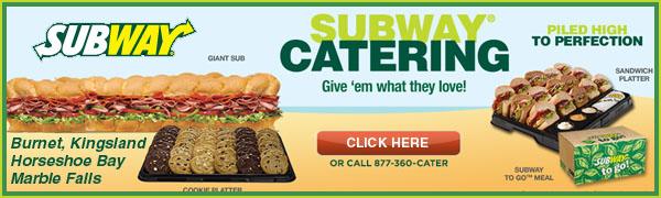 Subway Highland Lakes with 5 locations is the place to call for Catering