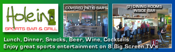 Hole in 1 Sports Bar & Grill - Horseshoe Bay, Texas for Casual Dining and Great Sports Entertainment