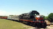 The arrival of the Hill Country Flyer steam train is always a big event in Burnet!