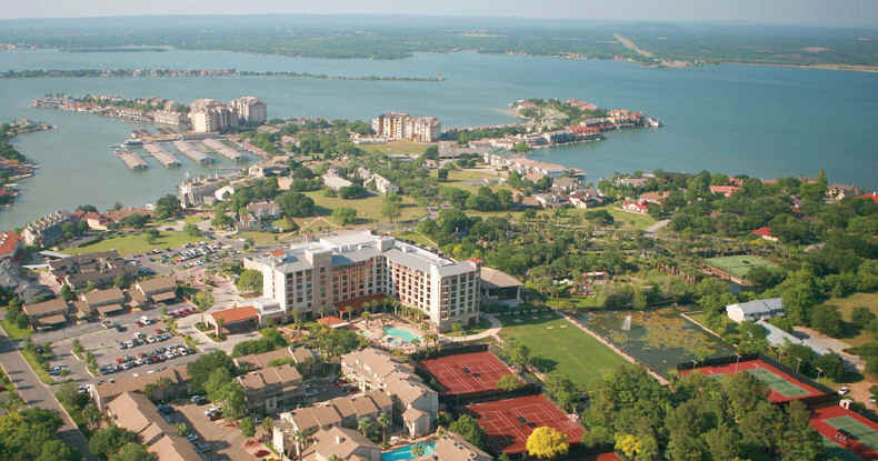 Overlooking The Marriott Hotel And Lake Lbj At Horseshoe Bay Resort