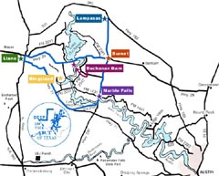 Bluebonnet Trail Map - Click for Enlargement