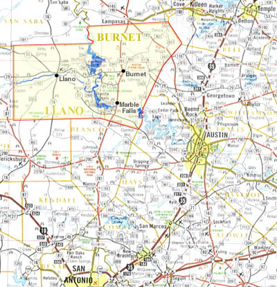Central Texas Hill Country Map Pictures To Pin On