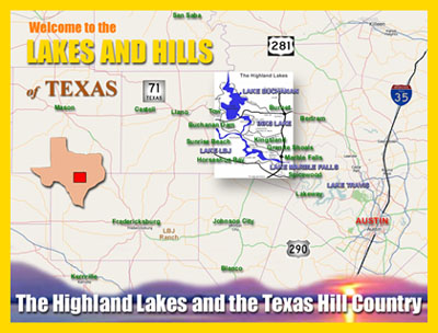 Map Of Texas Rivers And Lakes.Texas Highland Lakes Tourist Information The Highland Lakes Region