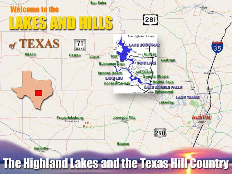 Texas Hill Country And The Highland Lakes Regional Map