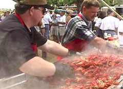 Cooking Crawfish at the Llano Crawfish Open